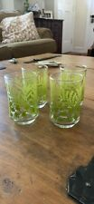 4 Vintage Fern/Ivy 4 Oz Juice Glasses