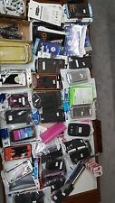 WHOLESALE LOT OF 65 Cell Phone cases from different make and models.