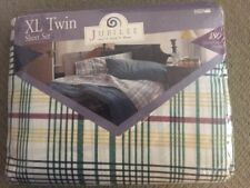 XL Twin Bedding sheet set blue white yellow and maroon