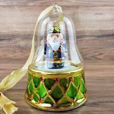 Mr. Christmas Nutcracker Music Box Glass Ornament  Dance Of The Sugar Plum Fairy