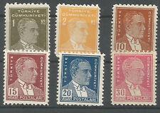 1951 TURKEY 7th ATATÜRK REGULAR POSTAGE ISSUE COMPLETE SET  MNH** LUX