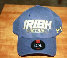 Notre Dame Football Blue Fitted Hat by Under Armour size L/XL