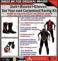 Motorcycle Custom Made Leather Protective Motorbike Racing suit + Boots + gloves