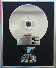 "The Beatles - Abbey Road CD/Cover gerahmt +12"" Deko goldene Vinyl Schallplatte"