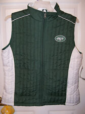 New York Jets Football GIII Womens Quilted Winter Rally Vest Size XL XLarge NWT