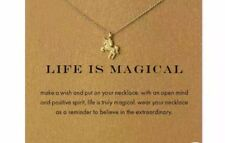 Style Wish Necklace Unique Unicorn Life Is Magical Gold