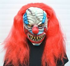 Scary Halloween Clown Mask with Hair Costume Party Stitches the Clown