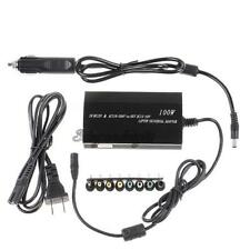 Universal Laptop In Car DC Charger Notebook AC Adapter Power Supply Cable 100W