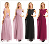Women Long Chiffon Evening Formal Party Cocktail Bridesmaid Prom Gown Dress