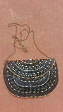 Vintage accessorize monsoon clutch bag shoulder black beads rare evening 1990s