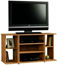 Modern TV Stand Media Shelves Storage Center Entertainment Console Rustic Wood