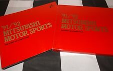 1991 1992 MITSUBISHI MOTOR SPORTS BOOK HARDBACK SLIPCASED DAKAR PAJERO LANCER