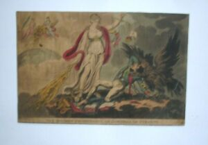 19th century CARICATURE the modern prometheus or downfall of tyranny cruikshank