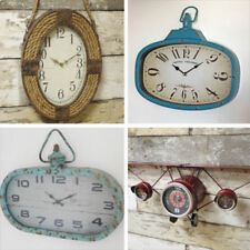 Quartz (Battery Powered) Industrial Living Room Wall Clocks