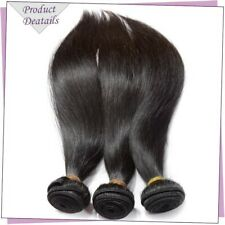 Weave Bundles Brazilian Straight human hair Remy hair Double Weaving Weft 12inch