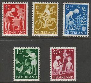 Netherlands 1962 - B368-72 Children's Activities - MNH