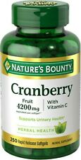 Nature's Bounty Cranberry with Vitamin C 4200 mg, 250 Softgels New Sealed 250ct
