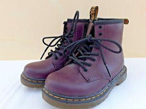 Dr. Martens UK 7 EUR 24 Child's Purple Boots