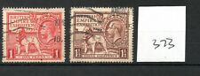 GB - GEORGE V (373) - Wembley Exhibition 1925 - both values - used