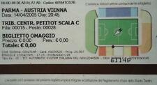 TICKET UEFA CUP 2004/05 AC PARMA-Austria Vienna Vienna
