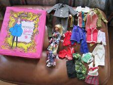 Vtg 1966/1967 Barbie Twist N Turn 1160 Made in Japan Lot w/ Case Clothing Look