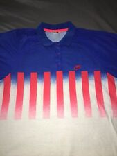 Vintage Nike Challenge Court Andre Agassi Polo Shirt Retro Tennis 90s Large