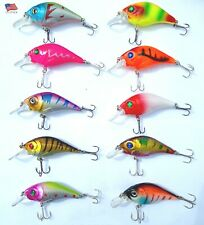ASSORTED 10 NEW CRANK BAITS Saltwater Freshwater Fishing Lure Hard Bait Bass