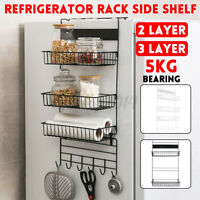 Refrigerator Fridge Side Shelf Spice Storage Rack Holder Stand Kitchen