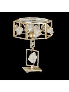 Bedside Lamp Crystal Of Yarn Leaf Silver Tp 226-LP2-03