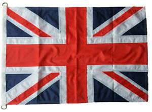 Traditionally sewn Union Jack flag British MoD approved knitted polyester 3x2ft