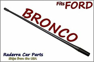 "FITS: 1980-1996 Ford Bronco - 13"" SHORT Custom Flexible Rubber Antenna Mast"