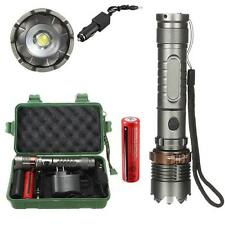 8000 LUMEN T6 LED Tattico Torcia elettrica luce a zoom regolabile + 18650