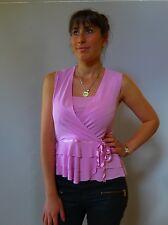 Vintage retro true 1990s 12 M Pink latin dance stretch peplim top Philip Monica