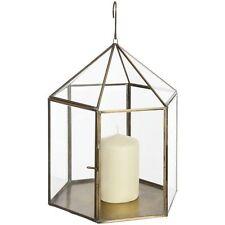 Brass Antique Style Candle & Tea Light Lanterns