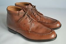 MORESCHI BROWN LEATHER CHUKKA ANKLE LACE-UP BOOTS - UK 7.5 / USA 8.5 / EUR 41.5