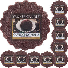 10 YANKEE CANDLE WAX TARTS Cappuccino Truffle  MELTS coffee chocolate