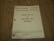 Army Air Force Technical Manual TM 11-664 TO 16-1-256 ELECTRONIC TEST EQUIPMENT