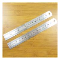 6 INCH / 15 cm ENGRAVED STAINLESS STEEL RULER MEASURE TOOL IMPERIAL METRIC C565