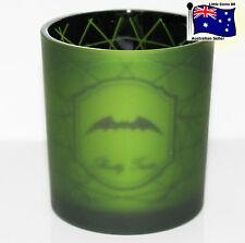 YANKEE CANDLE * Spider Web Green Bats Flickering * HALLOWEEN Votive HOLDER
