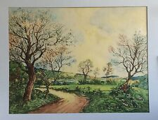 "Paul-Emile Lecomte Signed ""Le Vieux Chene"" 18"" x 23"" Old Oak Etching 1940"