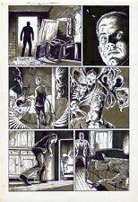 Horror Comic Original Pencil/Ink Wayne VanSant Demons Ghosts SIGNED Suicide Page