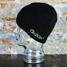 Oxbow imprimé bonnet chaud chapeau d'hiver en noir taille unique