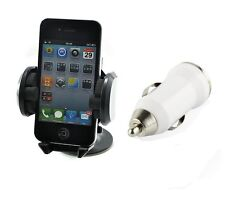 Windshield Car Charger Mount Holder Stand Kit Apple iPhone 4 4S 5 5C 5S 6 6 Plus