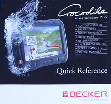 Becker z100 Crocodile manual de instrucciones instrucciones Quick Reference Manual