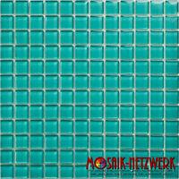 Glasmosaik Fliese türkis grün Wand Küche Dusche Fliesenspiegel 60-0606 | 1 Matte