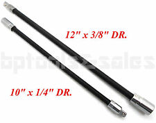 "2pc Flexible Socket Extension 10"" Long 1/4"" & 12"" Long 3/8"" Socket Bar Ratchet"