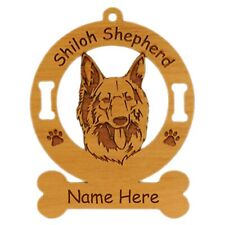 Shiloh Shepherd Head Dog Breed Ornament Personalized With Your Dogs Name 3970