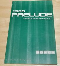 1985 Honda PRELUDE Owner's Manual new old stock