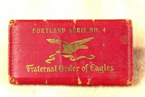 FRATERNAL ORDER OF EAGLES MEMBERSHIP CASE & 7 CARDS PORTLAND 1926-29 BUD KNUDSON