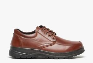 Dr Lightfoot REUBEN Mens Comfortable Wide Fit Lace-Up Smart Casual Shoes Tan